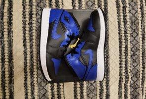 Air Jordan High top sneaker zwart-blauw