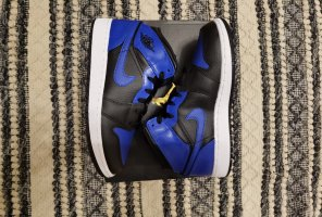Air Jordan Wysokie trampki czarny-niebieski