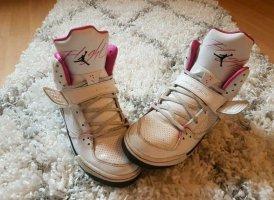 Air Jordan Basket montante blanc-rose