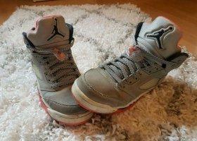 Air Jordan High Top Sneaker grey-orange