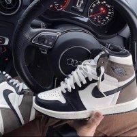 Nike Wysokie trampki biały-brązowy