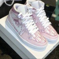 Nike Wysokie trampki w kolorze różowego złota-biały