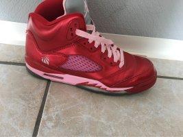 Air Jordan High Top Sneaker dark red-pink
