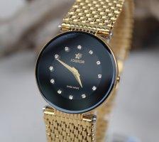 Jowissa Zegarek z metalowym paskiem złoto-czarny