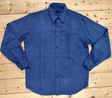 JP Boyfriend Hemd blau kariert bügelfrei Gr. XL Polyester Viskose Vintage Style