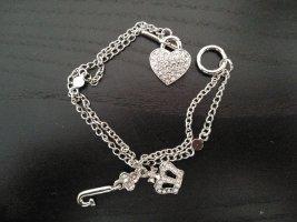 Juicy Couture Bracelet à breloques argenté