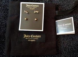 Juicy Couture Ohrringe in goldfarben, 4 Stecker, NEU