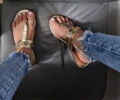 Juicy Couture Sandalo toe-post bronzo-oro