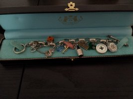 Juicy Couture Armbandje met bedels zilver