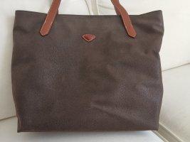 Shopper brun foncé faux cuir
