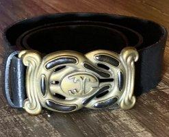 Just cavalli Leather Belt black-gold-colored