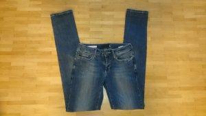 Just Cavalli Jeanshose White Blau-Grau Diamond Regular Waist Slim Leg DE Gr. 36