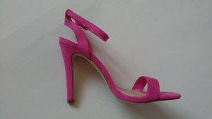 justfab High Heel Sandalette pink rosa gr. 39 neu Riemchensandalette