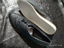 JustFab Zapatos brogue negro-blanco