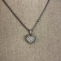 Juwelier Halskette Silberkette Strassherz 925 Sterling Silver