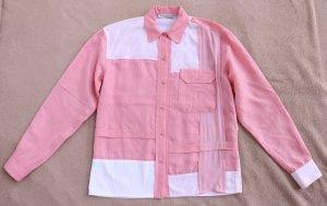 JW Anderson Colorblock Oversized Shirt aus Seide/ Cupro/ Baumwolle, F/ S 2020