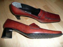 K+S Shoes maskulin & bequem Damen Leder Loafers Pumps congac 38,5 - 39