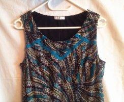 K1-5 Vintage Süßes Mini Kleid in Bunt/Türkis von promod wie Neu Gr. L w.Neu