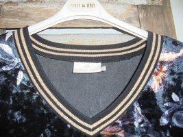 KAFFE Shirt Samt schwarz Gr.M