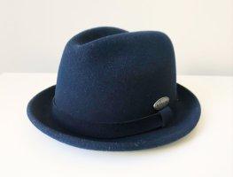 Kangol Felt Hat dark blue wool
