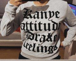Kanye/Drake Pullover, Gr. M