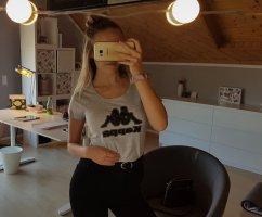 Kappa T-shirt grigio chiaro-grigio