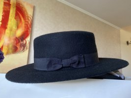 Vero Moda Chapeau en feutre noir laine