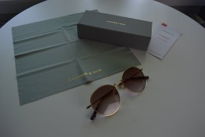 Kapten & Son Oval Sunglasses gold-colored-brown