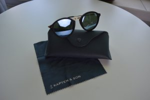 Kapten & Son Oval Sunglasses black-gold-colored