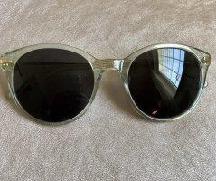Kapten & Son Occhiale da sole ovale azzurro-oro