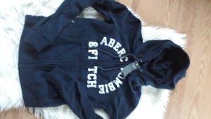 Abercrombie & Fitch Kurtka z kapturem ciemnoniebieski