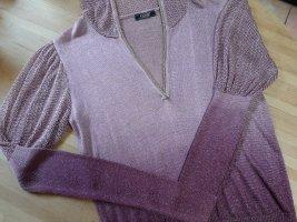 Blusa con capucha lila