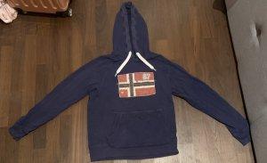 Kapuzensweater in verwaschener Optik S