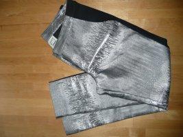 Karen by Simonsen Eyecatcher 7/8 Hose Suited Pants Metallic Silber Schwarz Gr 36 Glam Style