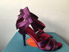 Karen Millen Schuhe aus Satin lila pink Gr. 39