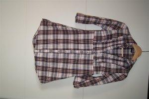 Karierte Bluse, Hemd mit Raffung, halbärmlig