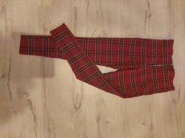 Zara Basic Pantalone a 3/4 rosso Viscosa