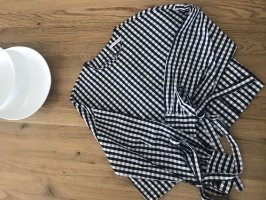 Karierte Zara Bluse schwarz weiß