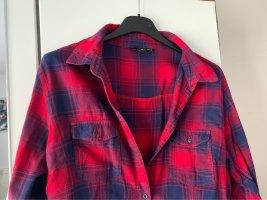 Tally Weijl Kurtka o kroju koszulki ciemnoczerwony-ciemnoniebieski