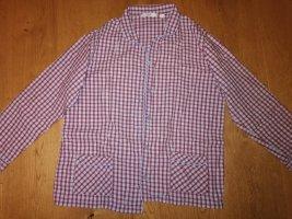 Tchibo / TCM Pijama rojo oscuro-azul neón Algodón