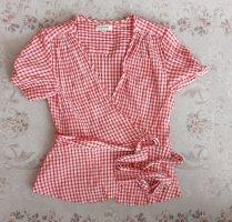 Max Studio Kopertowa bluzka biały-czerwony
