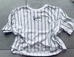 Karl Kani Cropped Shirt white-black