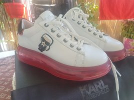 Karl Lagerfeld Lace-Up Sneaker white-red