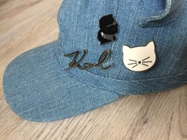 KARL LAGERFELD Choupette Cat Ears Denim Hat W/Pins Gr. M