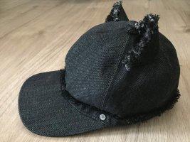 Karl Lagerfeld Berretto da baseball nero-argento Cotone