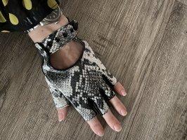 Karl Lagerfeld echt Leder Handschuhe Snake Black and white Np 125€