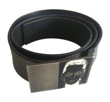 Karl Lagerfeld Cintura di pelle grigio-argento