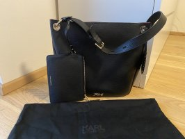 Karl Lagerfeld Sac à main noir-magenta