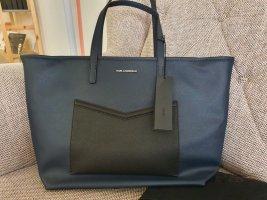 Karl Lagerfeld K/Mau shopper midnight blue blau schwarz silber tasche handtasche schultertasche