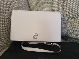 Karl Lagerfeld K/Pura Wallet on Chain Crossbody Portemonnaie geldbörse tasche rosa silber Umhängetasche